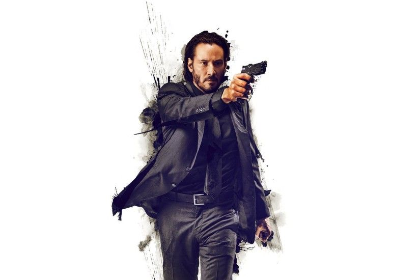 HD Keanu Reeves with a gun - John Wick Wallpaper