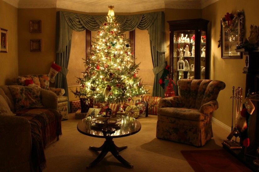 Christmas fireplace background wallpapertag - App that puts santa in your living room ...
