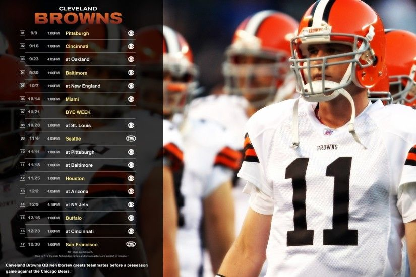 Cleveland browns 2012 schedule wallpaper