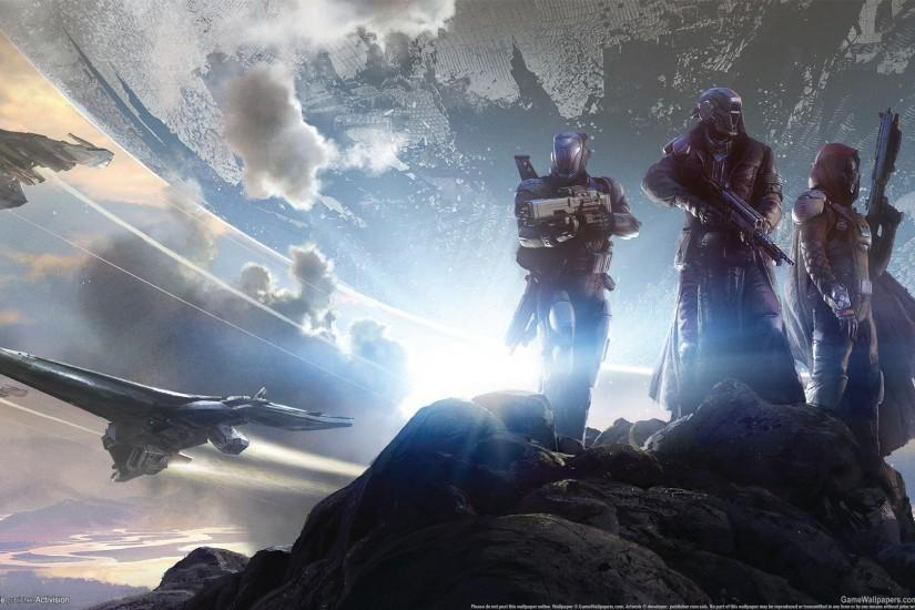 Preview wallpaper destiny, shooter, heroes, warriors, spaceships, weapons  1920x1080