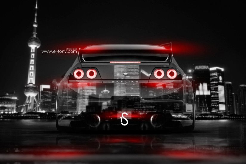... Nissan-Skyline-GTR-R33-JDM-Back-Crystal-City- ...