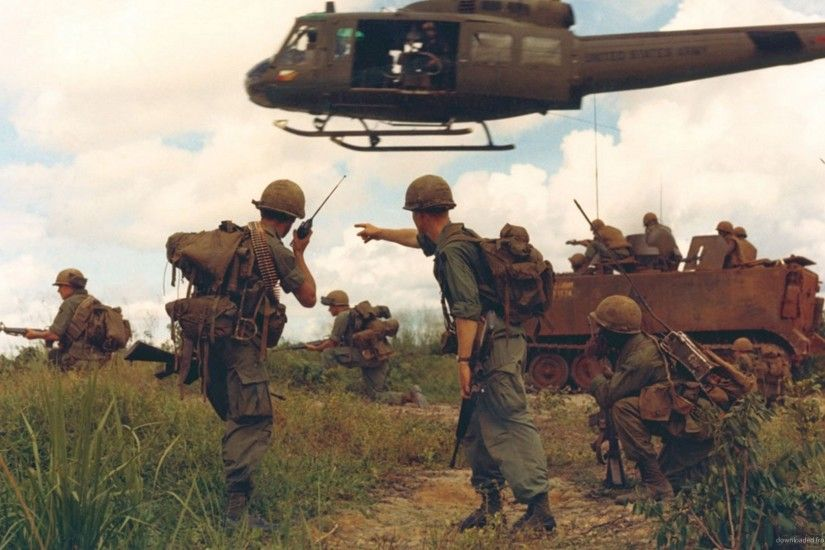 1920x1080 Vietnam War troops and armed units picture