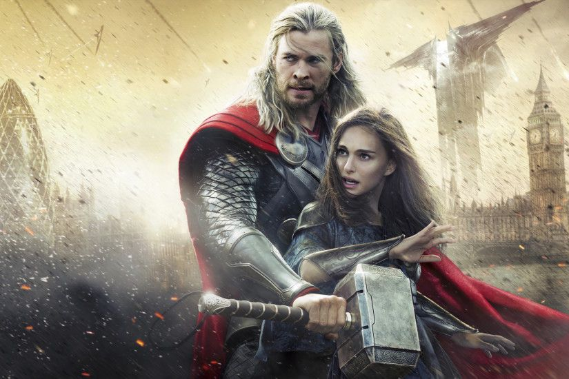 Chris Hemsworth and Natalie Portman 4k HD Thor 2 hd wallpapers
