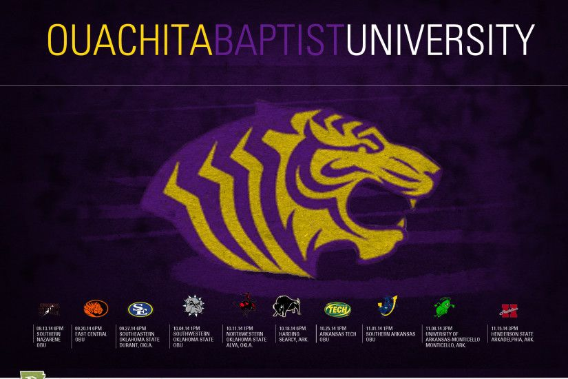Here is your 2014 Ouachita Baptist Tigers football schedule wallpaper .