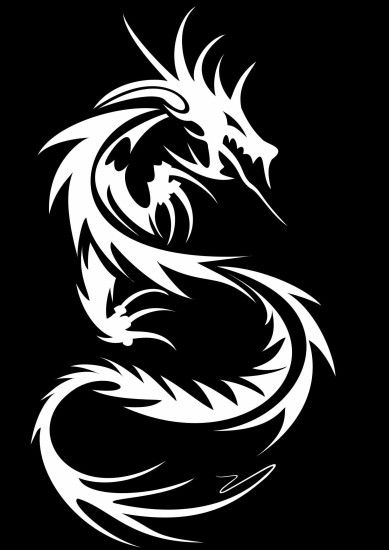 Images For > Black Dragon Tribal Wallpaper