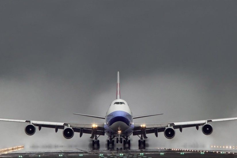 Boeing 747 1080p HD Backgrounds