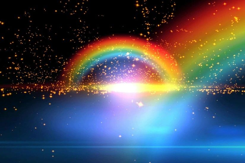 4K Beautiful Double Rainbow Spiritual Realm Animation Background