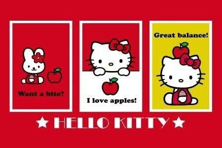 wallpaper, hello kitty, red, background, cute