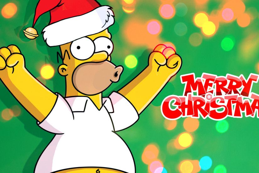 ... The Simpsons - Homer's Merry Christmas Wallpaper by nerosredqueen