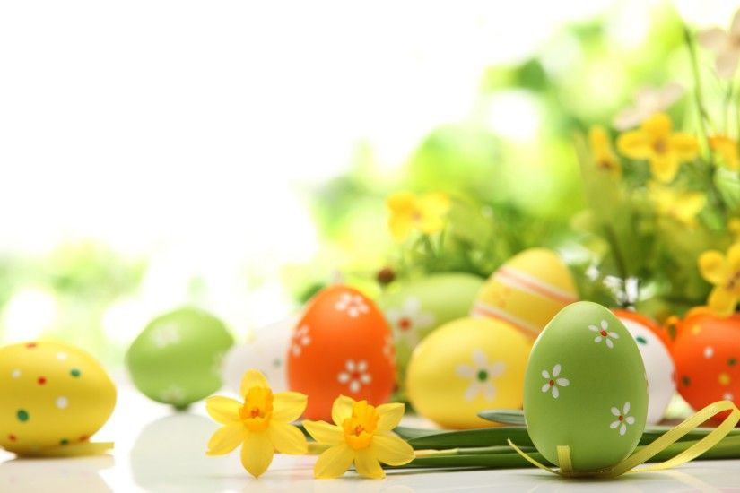 Colorful eggs happy Easter free download hd wallpapers