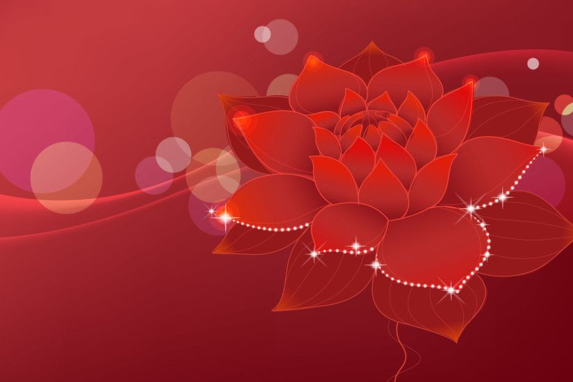 Red Flowers Background wallpaper