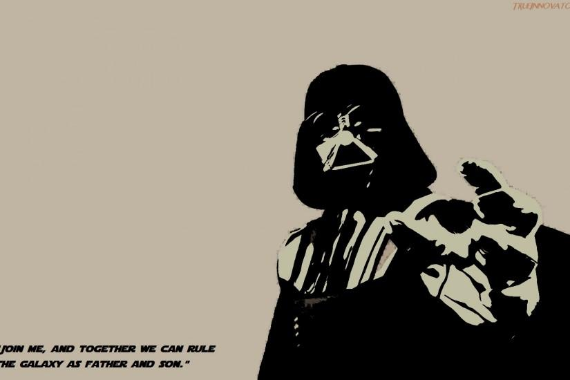 Darth Vader Imploring his son Luke Skywalker to join him and the Darkside  of the Force. Darth Vader Join Me Wallpaper