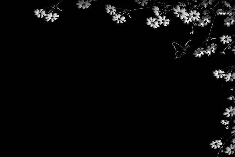 Floral Wallpaper With Black Background 20 High Resolution Wallpaper
