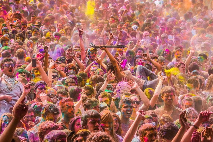 Artistic - Psychedelic Photography Crowd People Wallpaper