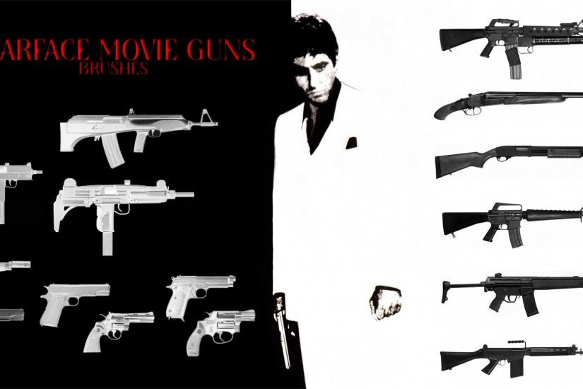 Scarface 1983 Guns Brushes by trentsxwife Scarface 1983 Guns Brushes by  trentsxwife
