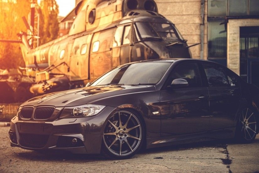 BMW E90, Car, Helicopters, Black, Military, BMW Wallpapers HD / Desktop and  Mobile Backgrounds