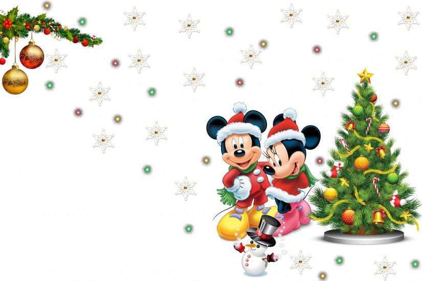 mickey mouse mickey snowflake minnie pretty lights snowman christmas tree