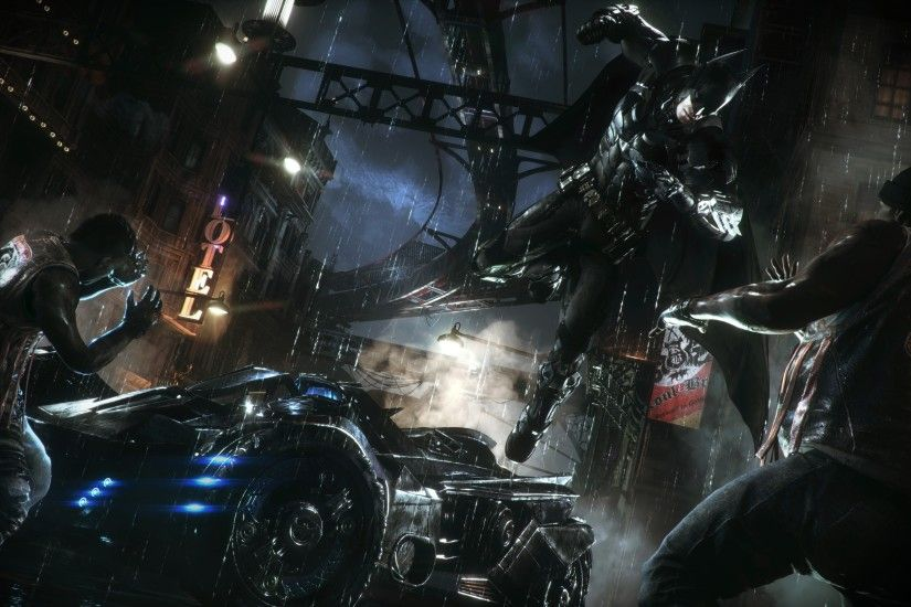 0 Batman Arkham Knight Wallpapers WallpapersByte Batman Arkham Knight  Wallpapers Photo Batman The Dark Knight City.