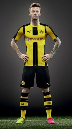 Marco Reus Borussia Dortmund 2016 2017 Puma Home Kit Wallpaper