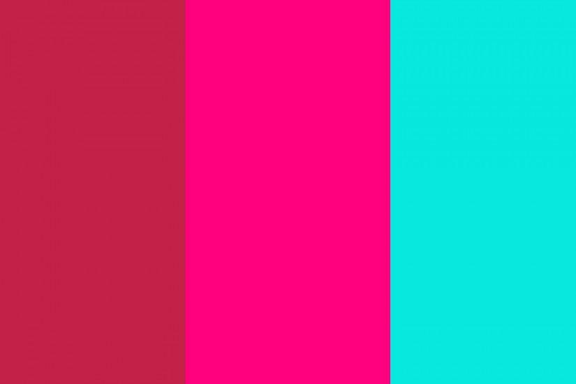 1920x1200 Bright Maroon, Bright Pink and Bright Turquoise Three .