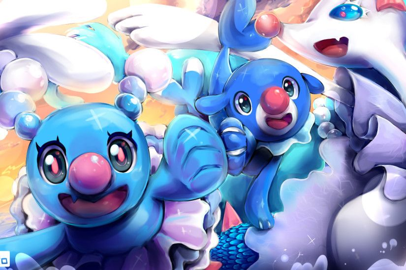 Video Game - Pokémon Sun and Moon Primarina (Pokémon) Brionne (Pokémon)  Popplio