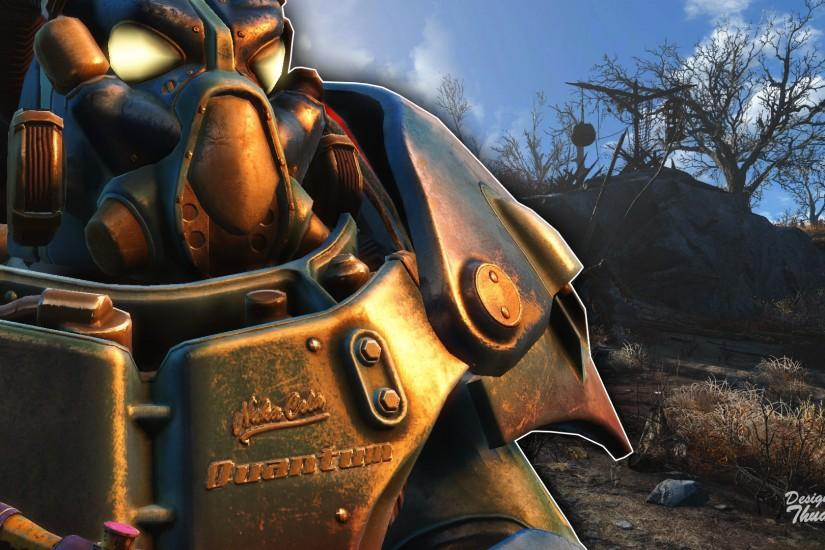 ... Fallout 4 Wallpaper - Nuka-Cola Quantum PowerArmor by ThuanePM