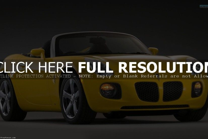 YELLOW PONTIAC SOLSTICE WALLPAPERS