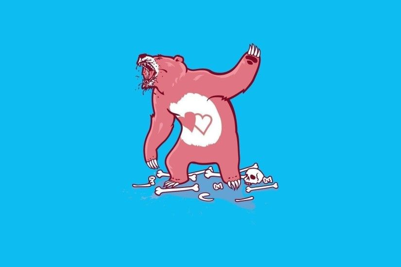 Aggressive care bear wallpaper - Funny wallpapers - #