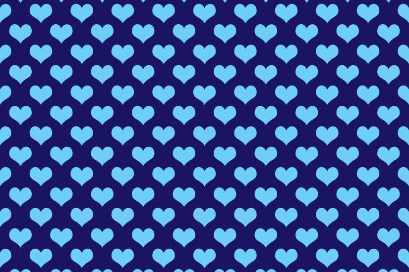 Hearts Background Wallpaper Blue