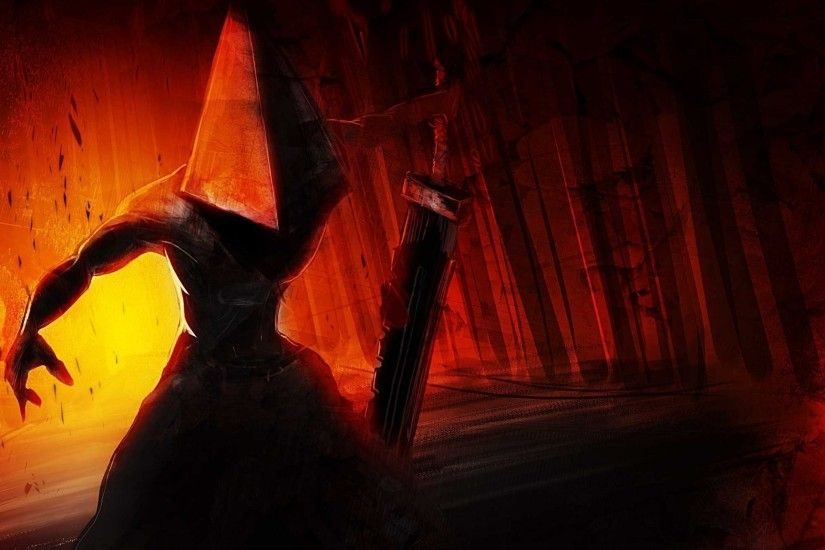 silent hill demon weapon helmet sword hand