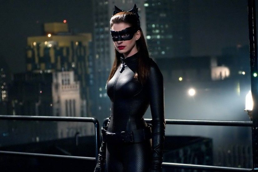 Anne Hathaway Batman actress costume Catwoman Batman The Dark Knight Rises  wallpaper background