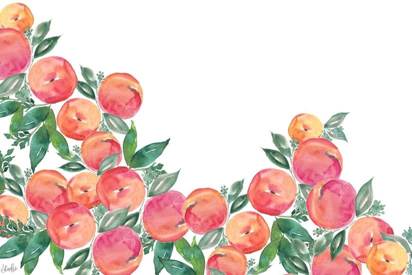 ... Free watercolor peach wallpapers
