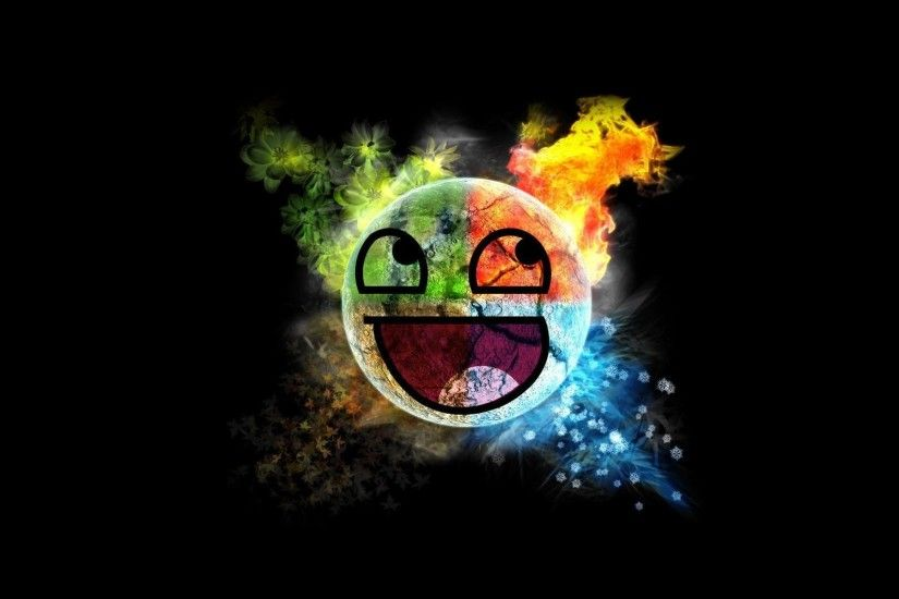 Abstract - Cool Abstract Colorful Smiley Wallpaper