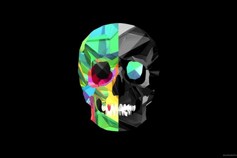 Colorful Skull for 1920x1080