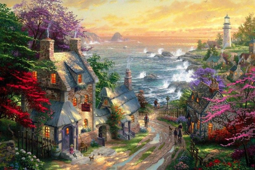 Wallpapers For > Thomas Kinkade Disney Dreams Collection Wallpaper