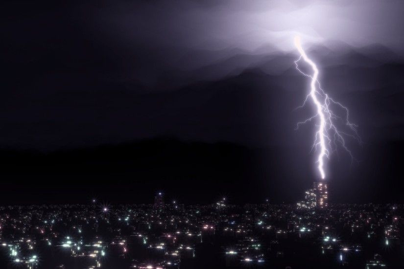 light night dark city clouds blender render rendering blender lightning the  storm light night town lights