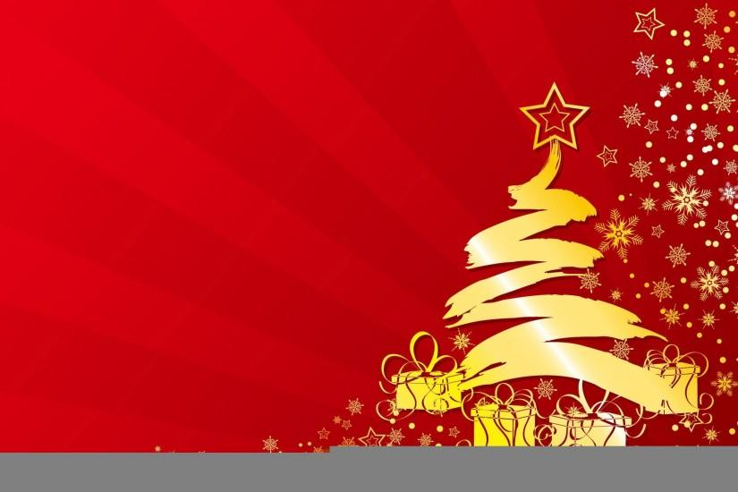 Red And Gold Christmas Background (15)