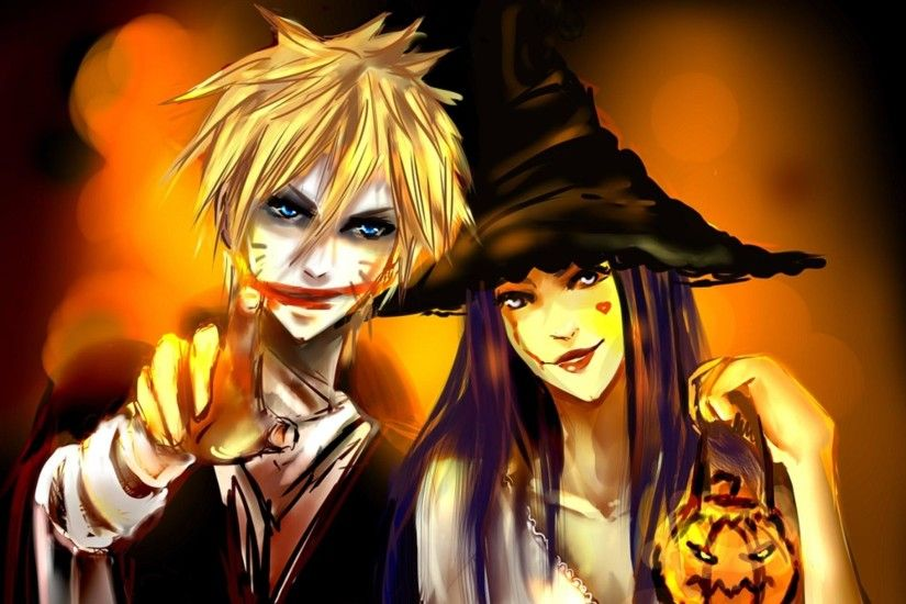 Halloween Anime Naruto and Hinata Hd Wallpaper Wallpaper