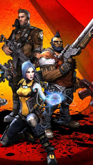 1080x1920 Wallpaper borderlands 2, salvador, gunzerker, maya, zero, axton