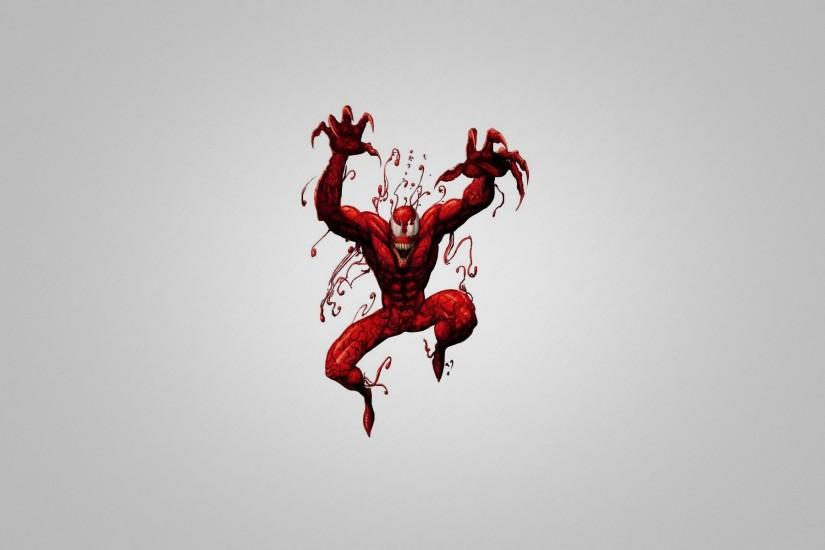 carnage comics spider-man spiderman red creature gray background