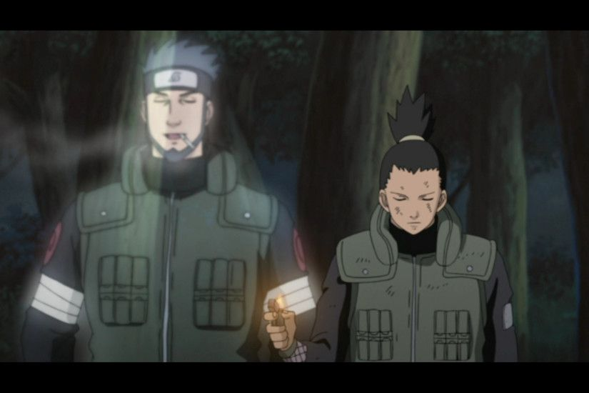 Asuma and Shikamaru vs Hidan