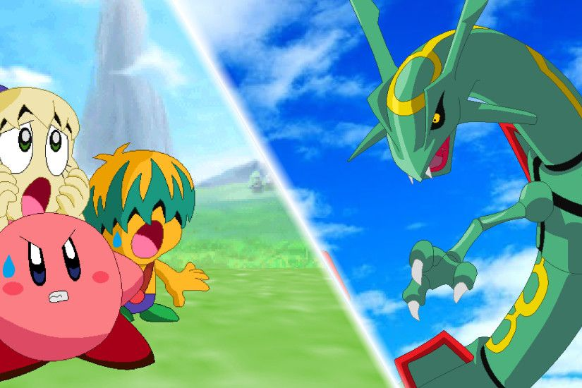 Kirby and Rayquaza Wallpaper by scott910 Kirby and Rayquaza Wallpaper by  scott910