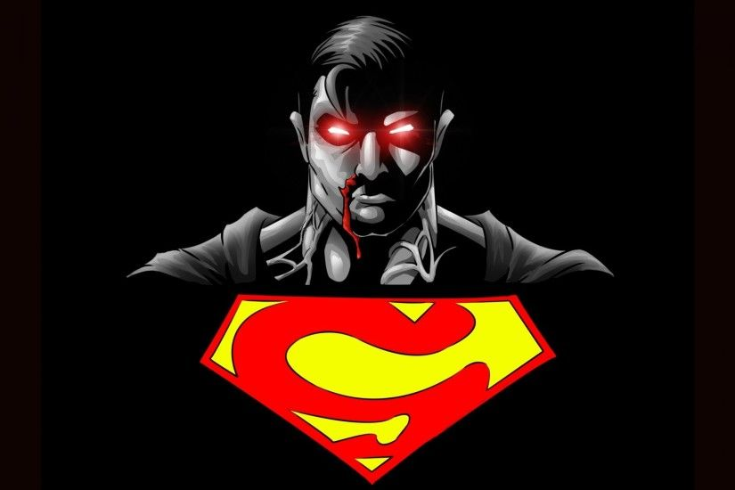 superman mark logo symbol superhero black background