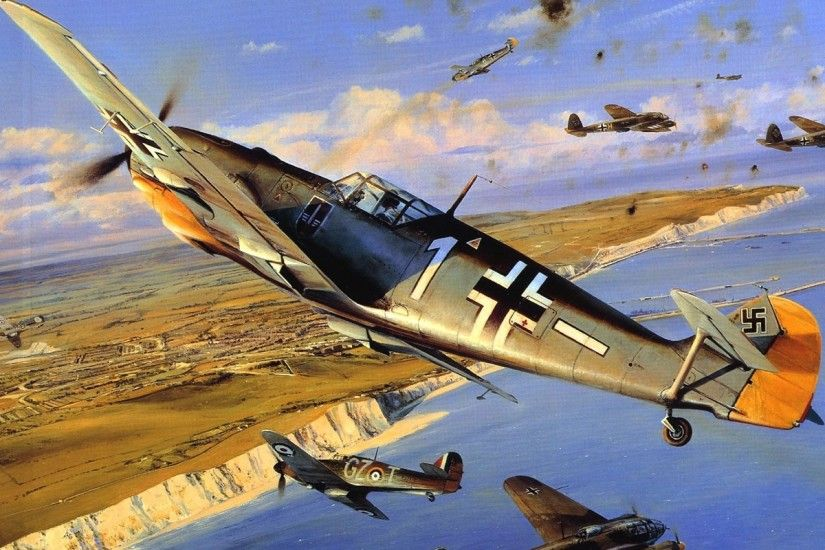 aircraft messerschmitt warbird bf109 1280x800 wallpaper Art HD Wallpaper