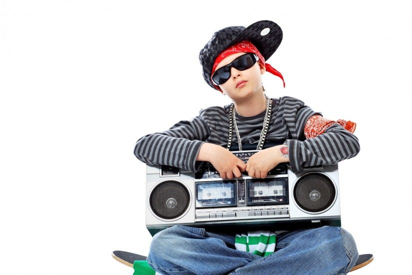 Preview wallpaper hip-hop, boy, glasses, cap, tape, skate,