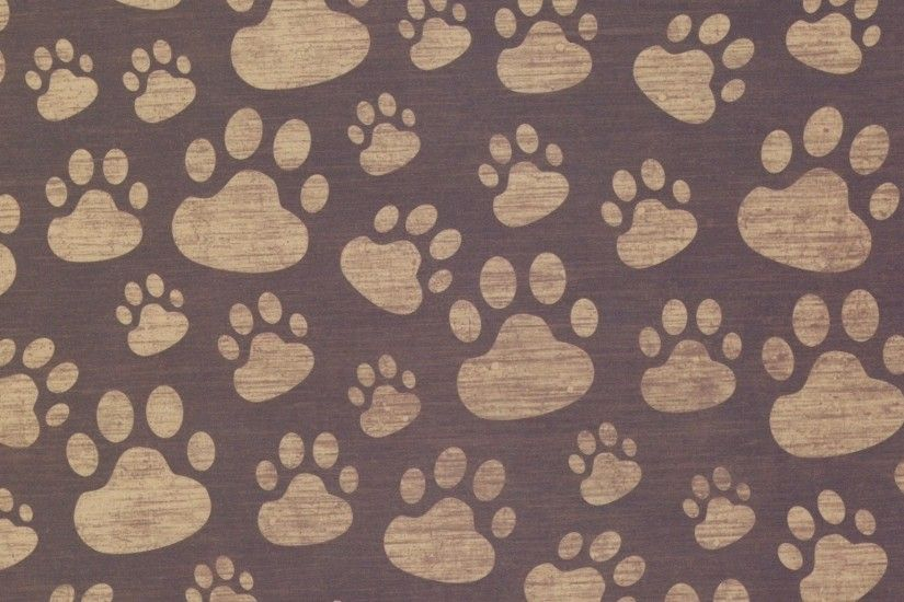 2048x1152 Wallpaper paw, print, background, surface, pattern