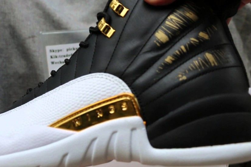 Air Jordan 12 Wings Metallic Gold White which Upper feature Black, will  expose Gold if rubbed or s - YouTube