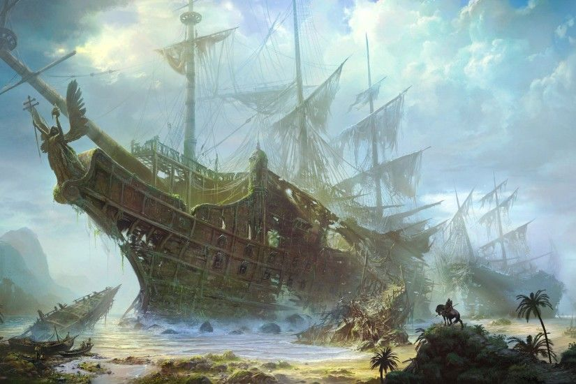 Wallpapers For > Pirate Ship Wallpaper 1280x1024
