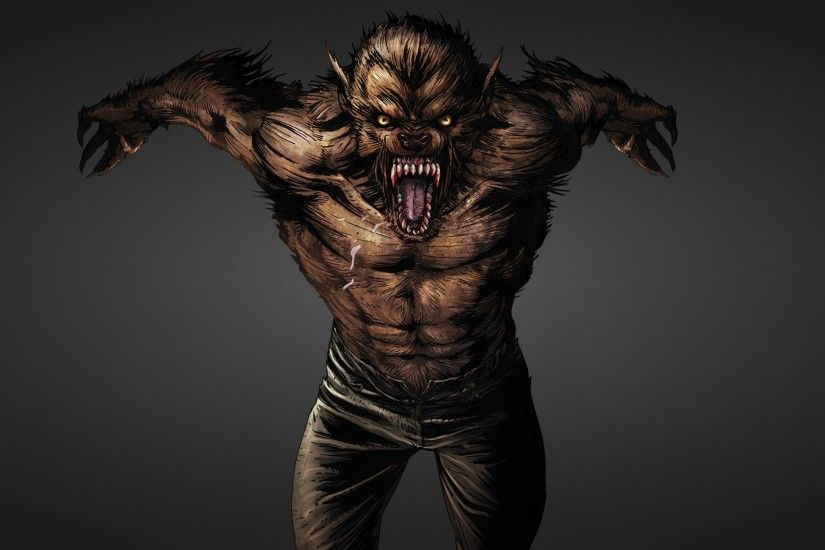 wolf wolf werewolf werewolf growls dark background