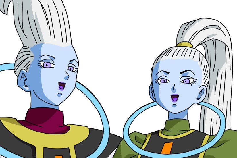 Dragonball Whis and Vados Lineart Farbig by WallpaperZero on .